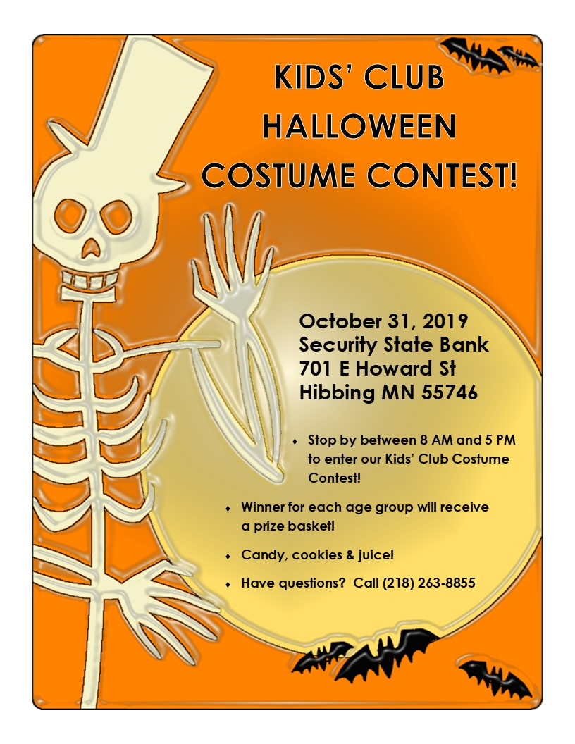 Halloween Costume Contest at Security State Bank October 31, 2019.