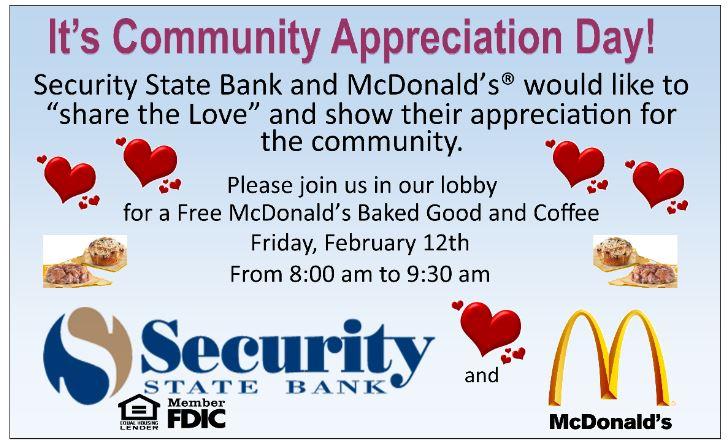 Flyer for McCafe Community Appreciation