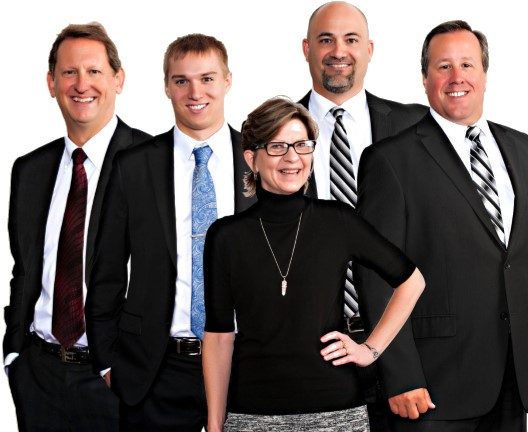 Group photo of Mark Gardeski, Chris Westin, Sandie Degnan, Aaron Clusaiu, and Greg Hoag